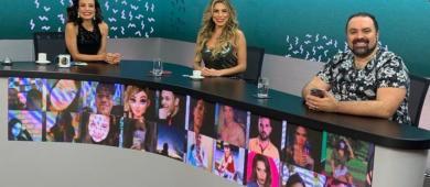Ex Peoa Erika Schneider e Jornalista Renato Cipriano debatem rumos de A Fazenda 13 em Programa de TV