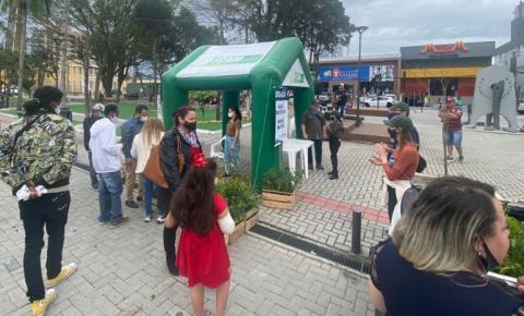 Fundação doa mais de 1.000 árvores durante evento em Palhoça