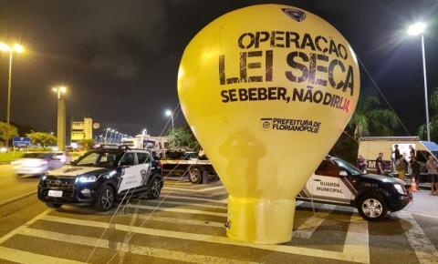 Operação Lei Seca aborta mais de 160 motoristas em Florianópolis no final de semana
