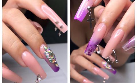 Piercing nas unhas é na nova tendência na nail art
