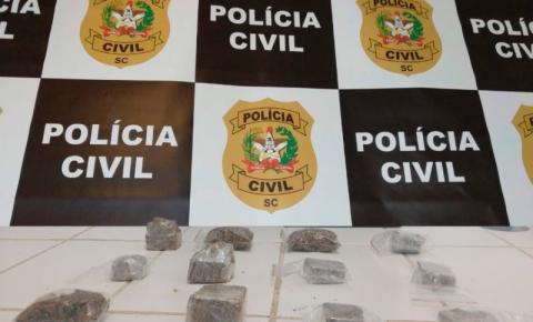 Polícia apreende maconha e skunk em Palhoça