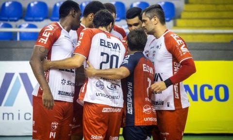 Apan Blumenau perde em casa para o Vôlei Renata de Campinas pela Superliga Nacional