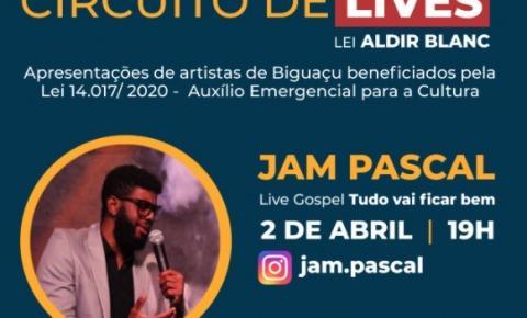 Artistas de Biguaçu realizam transmissões ao vivo com recursos da Lei Aldir Blanc