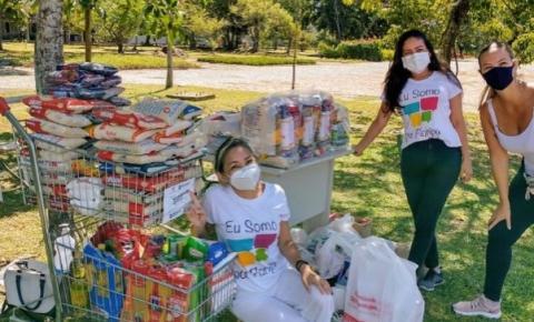 Ação solidária da Somar Floripa arrecada 8 toneladas de alimentos em drive-thru de vacinação