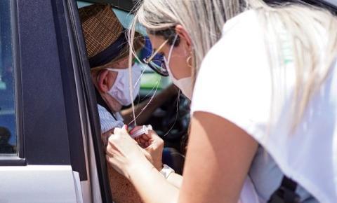 Palhoça inicia a vacinação de idosos com idade a partir de 60 anos
