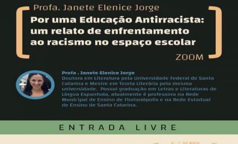 Professora de Espanhol de Florianópolis fala sobre combate ao racismo em evento virtual no Uruguai