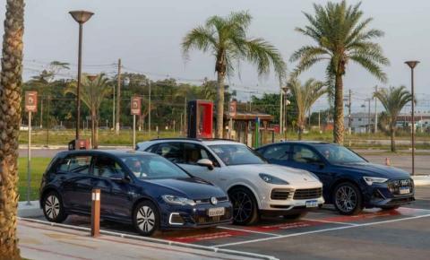 VW, Audi, Porsche e EDP inauguram seu primeiro eletroposto