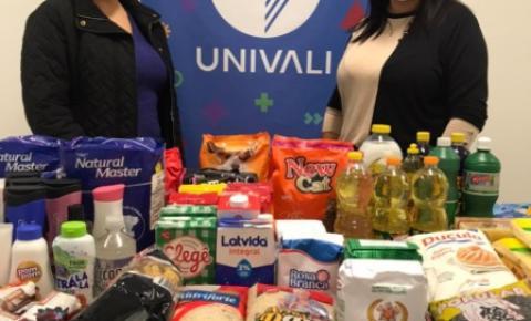 Secretaria de Assistência Social firma parceria com Univali para doações