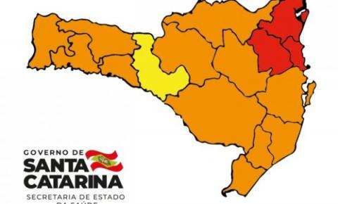 Coronavírus em SC: Matriz de Risco aponta uma região em risco alto e apenas três em risco gravíssimo