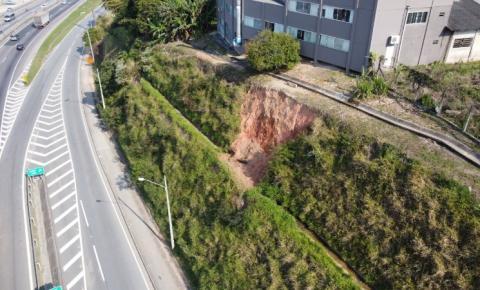 Saída 197 da BR 101 em Biguaçu fica bloqueada a partir desta quarta; veja alternativa