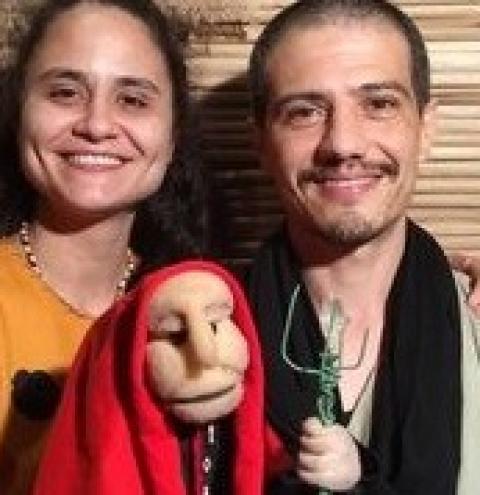 """Espetáculo """"O Ancião"""" será transmitido pelo celular ao público em Biguaçu"""